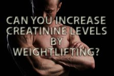 Can I increase creatinine levels by weightlifting training?